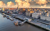 Morning view of Liverpool waterfront (Dave Wood Liverpool Images) Tags: liverpool waterfront panorama merseyside