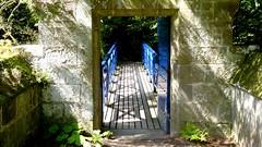 Secret Passage to Blue Bridge over Creek at Cawdor Castle, Scotland (Joseph Hollick) Tags: scotland cawdorcastle blue bridge opening