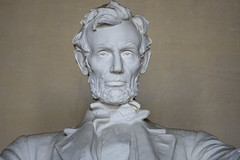 Ghost Abe (Tim Brown's Pictures) Tags: washingtondc nationalmall monuments memorials lincolnmemorial abrahamlincoln uspresidents travel visitors tourists architecture temple historic daytime statue sculpture danielchesterfrench icon iconic washington dc unitedstates