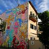 Tuttomondo, Pisa (pom.angers) Tags: april 2018 pisa toscana tuscany italia italy europeanunion art murale painting keithharing tuttomondo 1989 panasonicdmctz101 100 200
