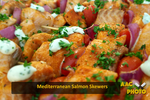 """Med. Salmon Skewers • <a style=""""font-size:0.8em;"""" href=""""http://www.flickr.com/photos/159796538@N03/41873880181/"""" target=""""_blank"""">View on Flickr</a>"""