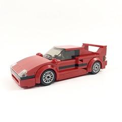 Ferrari F40 (wooootles) Tags: lego moc legomoc car sportscar sportscoupe supercar coupe ferrari f40 ferrarif40 legocar auto speedchampions