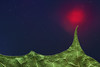Strange glow. Behind the mountain range of the acer platanoides. (Gudzwi) Tags: leaf blatt acerplatanoides spitzahorn ahorn maple ahornblatt mapleleaf norwaymaple silhouette seitenlicht sidelight sidelit grün rot blau sternenhimmel nightsky macro makro macroorcloseup macromondays mm hmm jagged zackig gezackt zacken jag macromondaysmay07jagged pressedleaf gepresstesblatt getrocknet dried trocken dry spitze peak himmel sky 7dwf 7dwfmondaysanythinggoesmondays anythinggoesmondays