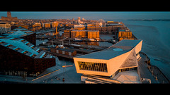 the museum of liverpool (paul hitchmough photography 2) Tags: museum liverpool liverpoolskyline liverpoolwaterfront sunset architecture albertdock rivermersey light mavicair aerialphotography dronephotography dji paulhitchmoughphotography