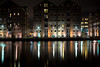Glos Docks reflections (aronalison) Tags: gloucester gloucesterdocks longexposure night docks reflections water waterreflections black best pro