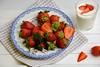Strawberries and yoghurt (Fidi987) Tags: foodphotography foodfotografie food fruit fruits obst erdbeeren strawberries strawberry yoghurt joghurt summer sommer breakfast frühstück