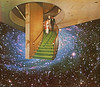 lgooh (woodcum) Tags: space cosmic cosmos stars galaxy stairs pair couple collage surreal retro vintage grain color