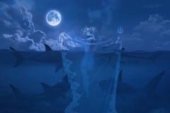 Pets-walker (dMadPhoto) Tags: retratos portraits landscape paisajes nature naturaleza luna moon nude naked desnudo belleza beauty girls woman women lk lowkey madrid blue azul sharks tiburones pets mascotas fantasy fantasía dmadphoto sky cielo