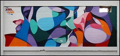 Alber (Chrixcel) Tags: vtimes alber tag graff graffiti portrait streetart arturbain bordeaux darwin kiss baiser étreinte