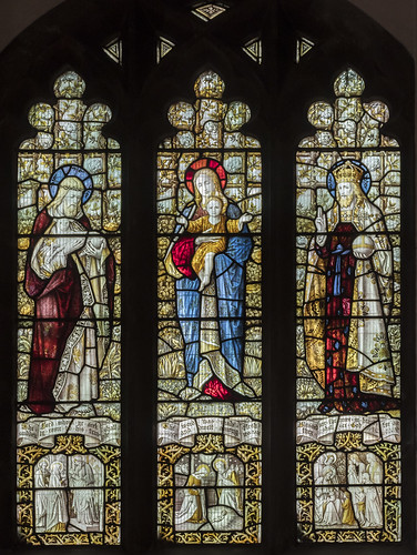 Uppingham, Ss Peter & Paul church window