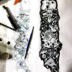 Inkity ink ink ink ink (Tom Bagley) Tags: forbiddendimension guitars bat blood axe hook eyes punk ink calgary alberta canada claws tombagley