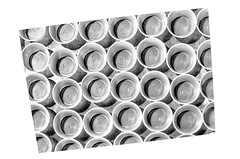 MAKES ME DIZZY (panache2620) Tags: illusion visual offcenter canted pattern monochrome bw creative eos canon city urban town art fineart crazy cups