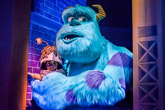 Sulley with Boo in Monsters, Inc. Mike & Sulley to the Rescue! - DCA (GMLSKIS) Tags: disney nikond750 anaheim california dca disneycaliforniaadventure