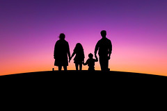 Happy Family: International Day of Families (Vaas.V) Tags: international day families silhoutte megentasky sky pentaxks2 da18135mm dusk dawn twilight sunset sunrise