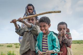 Kids - Hudad Plateau, near Lalibela, Ethiopia