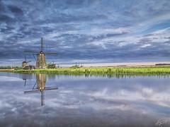 Windmail (A. Shamandour) Tags: netherlands windmail landscape river sunset sunrise hasselblad sky clouds reflections
