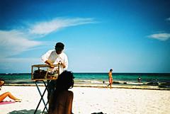 Tulum (cranjam) Tags: lomo lca lomography film slide xpro expired kodak elitechrome100 mexico messico yucatán quintanario beach spiaggia tulum caribbeansea marcaraibico sea mare