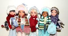 Chilling with a passion for fashion (meike__1995) Tags: bratz wintertime wonderland dolls doll mga collection jade yasmin cloe sasha dana
