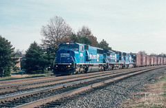 Almost to Conway (jwjordak) Tags: truck trees sd60m building 5516 cr conrail train leetsdale pennsylvania unitedstates us
