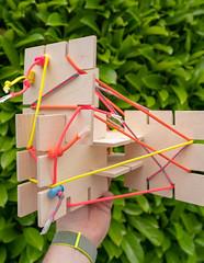 VOXEL Mockups (architecturegeek) Tags: seattledesignnerds mockup multiply plywood crod tactical art design paracord 2018 voxel publicart webbing