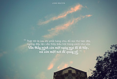 118 (loanimages) Tags: blue sky house tree cloud quote