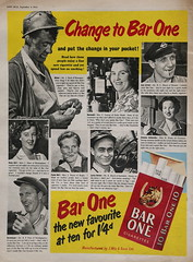 If You've Got Them, Smoke Them. (Paris-Roubaix) Tags: bar one cigarettes vintage tobacco advertising 1952 jon bull magazine
