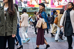 Looking For Bargains (burnt dirt) Tags: asian japan tokyo shibuya station streetphotography documentary candid portrait fujifilm xt1 laugh smile cute sexy latina young girl woman japanese korean thai dress skirt shorts jeans jacket leather pants boots heels stilettos bra stockings tights yogapants leggings couple lovers friends longhair shorthair ponytail cellphone glasses sunglasses blonde brunette redhead tattoo model train bus busstation metro city town downtown sidewalk pretty beautiful selfie fashion pregnant sweater people person costume cosplay denim shopping bag hat red