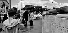 Bella Roma. (Baz 120) Tags: candid candidstreet candidportrait city candidface candidphotography contrast street streetphoto streetphotography streetcandid streetportrait sony a7 fullframe rome roma europe women monochrome monotone mono noiretblanc bw blackandwhite urban life primelens portrait people pentax20mm28 italy italia girl grittystreetphotography faces decisivemoment strangers