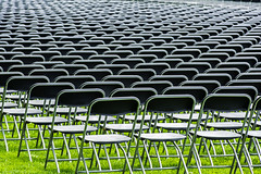 Grounds crew sets up 24,000 chairs for U of Virginia graduation (TAC.Photography) Tags: chairs stackable universityofvirginia graduation graduationceremony college school students patterns lines tacphotography tomclarknet