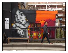 STREET ART by ZABOU (StockCarPete) Tags: zabou yarashahidi women female streetart londonstreetart urbanart graffiti london uk pavement pedestrian blackwomen afro afrocaribbean waitingforyou