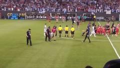 Argentina v Panama pitch invader