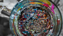 Week 14. (hmcgee18) Tags: water bubbles colour circles glass abstract texture