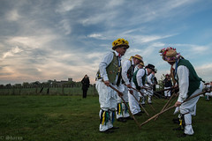 Summer is Icumin In! (sharongellyroo) Tags: littleegypt morrismen glemsford suffolk beltane dance dawn may1st tradition clouds sky flickrfriday lowangle