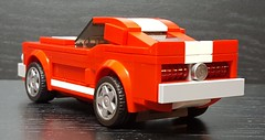68 Shelby GT with new taillights based on the work of Marc Edge. (Autobricknology) Tags: 68 ford mustang shelby gt 350 500 fastback sportsroof ponycar lego