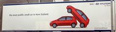 Hyundai advertisement in New Zealand (D70) Tags: hyundai advertisement new zealand getz sign nikon d70 ƒ35 280mm 11600 ponsonby auckland aucklandregion