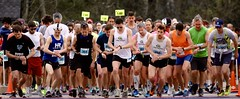 On your marks... Set your watches... (stephencharlesjames) Tags: sport running marathon outdoor sports athletics race time middlebury vermont