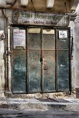 St. Elmo Victoria Garage. (Sez_D) Tags: valletta malta architecture buildings garage stelmovictoriagarage textures garagedoor door