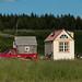 Casa na caçamba