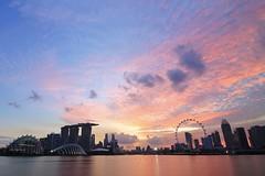 Marina Bay Singapore (Trung D.S.) Tags: sunset singapore marina bay