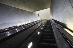 Up and Out (dckellyphoto) Tags: washingtondc districtofcolumbia 2018 metro wmata escalator stairs tunnel wideangle up lookingup