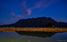 Mt Roland dusk (NettyA) Tags: australia eaglesnestretreat mountain mtroland tasmania tassie westkentish clouds dam landscape night nightscape reflection sky stars water