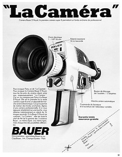 Bauer D Royal movie camera advertisement.