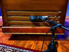 Whispering (Pennan_Brae) Tags: soundengineer soundengineering musicproduction musicproducer organist hammondorgan hammondb3 musicphotography music recordingstudio recordingsession recording amp amplifier speaker lesliespeaker microphone