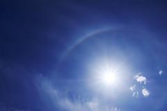 Solar Halo (ShinyPhotoScotland) Tags: perthshire auchterarder scotland sky clouds cirrus solarhalo atmosphericoptics fujixt20 lookup awesome sun contrejour bright beautiful rawtherapee proviaemulation arc halo hdr enfuse serifaffinityphoto nature atop simple minimalist minimalism colour vibrant saturated dramatic drama