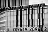 ..va pas être facile à la caisse !! (Janick Lanier) Tags: lines codebarres barcode bw nb noiretblanc janicklanier numbers nombres graphique immeuble building paris