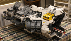Ugly Duckling: progress report (Blake Foster) Tags: lego space spaceship microscale microspace afol moc wip