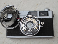 canonet ql19 old type (zaphad1) Tags: canonet rangefinder repair ql19 ql 19 shutter assembly timer lens removal creative commons free photo