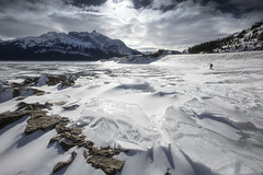 Abraham lake (yan08865) Tags: landscape sky snow ice nature mountain canada alberta jasper banff abraham lake winter pavlis pics water river flow adventure ngc travel bc rocks