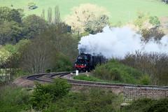 45212 LMS Stanier Class 5MT 4-6-0 'Black 5', Newton Meadows, Newton St Loe, Somerset (Kev Slade Too) Tags: 45212 lms stanier class5mt 460 black5 steam westcoastrailwaycompany 1z25 newtonmeadows newtonstloe bath somerset