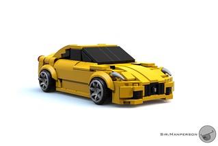 Ferrari 599 - 7-wide - Lego